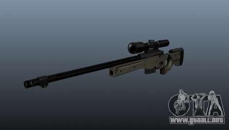 Rifle de francotirador AI Arctic Warfare policía para GTA 4