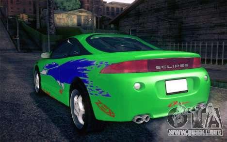 Mitsubishi Eclipse Fast and Furious para la vista superior GTA San Andreas