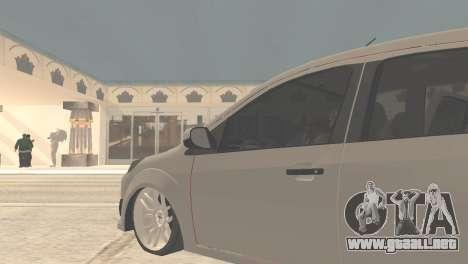 Ford Fiesta Rocam Edit para GTA San Andreas vista posterior izquierda