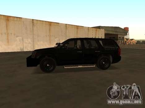 GMC Yukon ATTF para GTA San Andreas vista hacia atrás