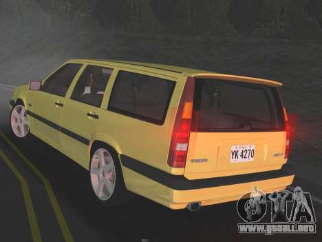 Volvo 850 R Estate para GTA Vice City visión correcta