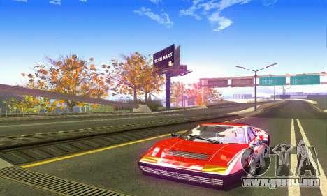 Ferrari 512 BB para GTA San Andreas vista posterior izquierda