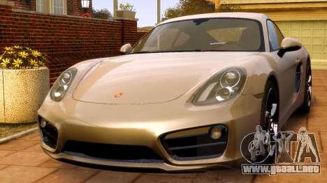 Porsche Cayman 981 S v2.0 para GTA 4 visión correcta
