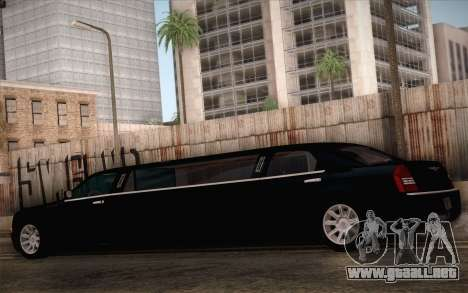Chrysler 300C Limo 2007 para la vista superior GTA San Andreas