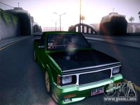 Mitsubishi Cyclone para GTA San Andreas vista hacia atrás
