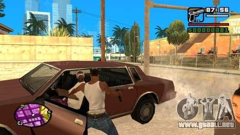 Pistola semi-automática para GTA San Andreas sucesivamente de pantalla