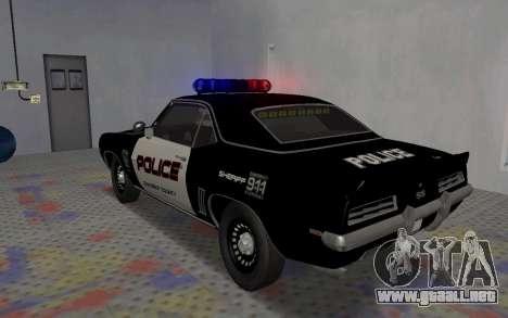 Chevrolet Camaro SS Police para la visión correcta GTA San Andreas