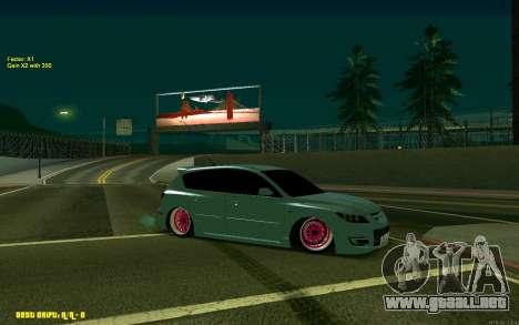 Mazda 3 para GTA San Andreas left