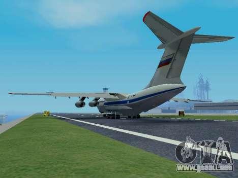 Il-76td v1.0 para GTA San Andreas vista hacia atrás