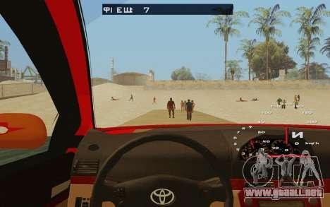 Toyota Vios Taxi Costa Rica para visión interna GTA San Andreas