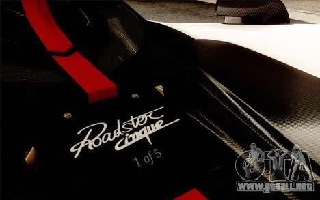 Pagani Zonda Cinque para el motor de GTA San Andreas