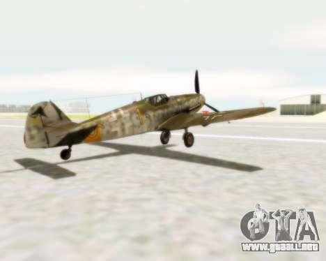 Bf-109 G6 para GTA San Andreas left