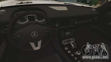 Mercedes-Benz SLS AMG Black Series 2014 para GTA 4 vista lateral