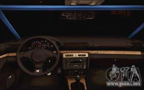 Audi S4 Hellaflush para la visión correcta GTA San Andreas