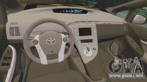 Toyota Prius 2011 Adelaide Independant Taxi para GTA 4 vista interior