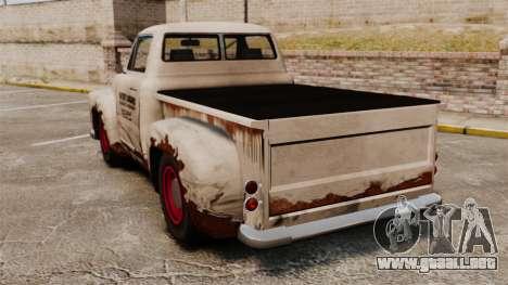 Camioneta oxidada para GTA 4 Vista posterior izquierda
