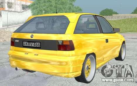 Opel Astra F GSI BBS Style para GTA San Andreas left