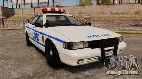 GTA V Police Vapid Cruiser LCPD para GTA 4