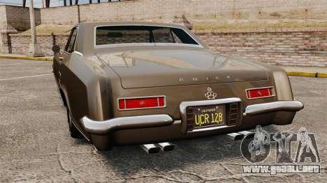 Buick Riviera 1963 para GTA 4 Vista posterior izquierda