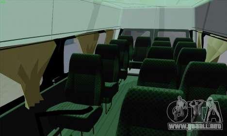 Ford Transit Jumgo para vista inferior GTA San Andreas