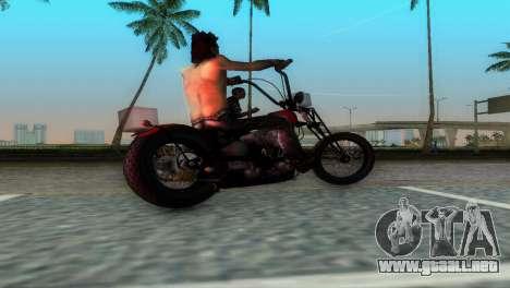 Harley Davidson Shovelhead para GTA Vice City visión correcta