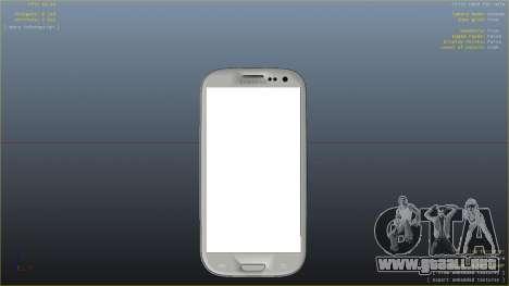 Samsung Galaxy S3 para GTA 4 adelante de pantalla