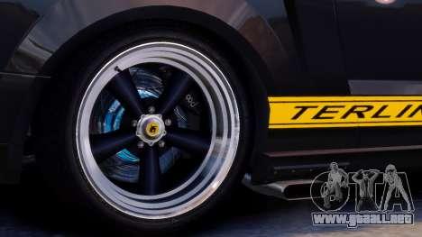 Shelby Terlingua Mustang para GTA 4 vista interior