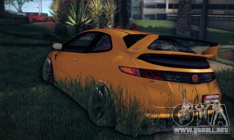 Honda Civic Type R Mugen para GTA San Andreas vista hacia atrás
