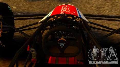 Formula Ford 1600 v1.0 para GTA 4 Vista posterior izquierda