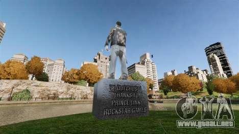Estatua de Claude SIDA para GTA 4 segundos de pantalla