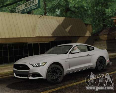 Ford Mustang GT 2015 para GTA San Andreas vista posterior izquierda