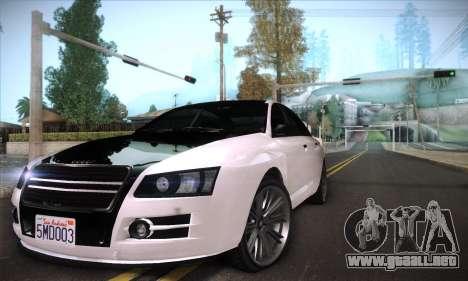 GTA V Tailgater para la vista superior GTA San Andreas