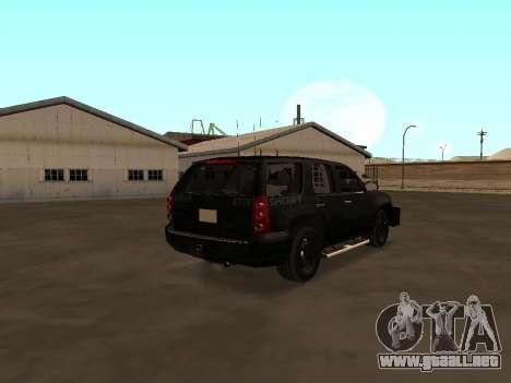 GMC Yukon ATTF para GTA San Andreas vista posterior izquierda