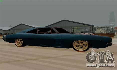 Dodge Charger 1969 Big Muscle para GTA San Andreas vista posterior izquierda