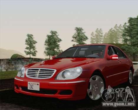 Mercedes-Benz S600 Biturbo 2003 para la visión correcta GTA San Andreas