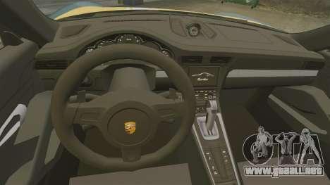 Porsche 911 Turbo 2014 [EPM] Alpinestars para GTA 4 vista interior