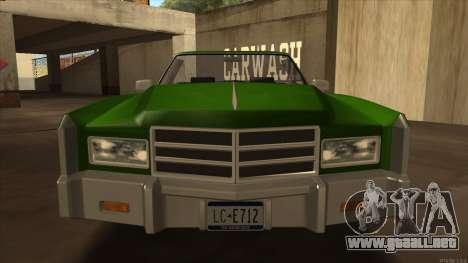 Esperanto HD from GTA 3 para GTA San Andreas vista posterior izquierda