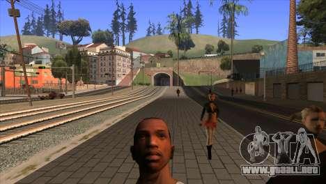 La cámara en el GTA V para GTA San Andreas tercera pantalla