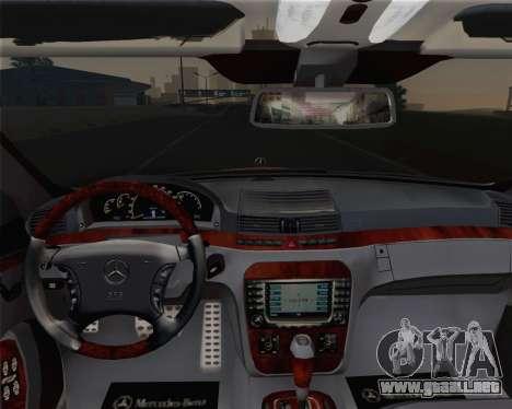 Mercedes-Benz S600 Biturbo 2003 para la vista superior GTA San Andreas