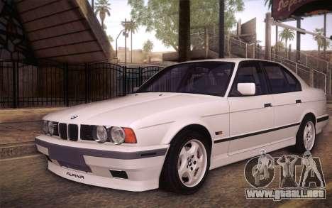 BMW E34 Alpina para vista lateral GTA San Andreas