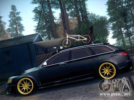 Audi Avant RS6 LowStance para la visión correcta GTA San Andreas