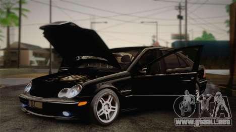 Mercedes-Benz C32 AMG 2004 para visión interna GTA San Andreas