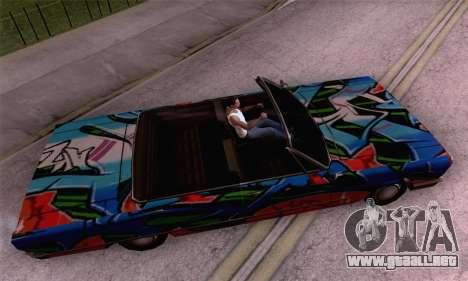El trabajo de pintura para Sabana para GTA San Andreas vista posterior izquierda