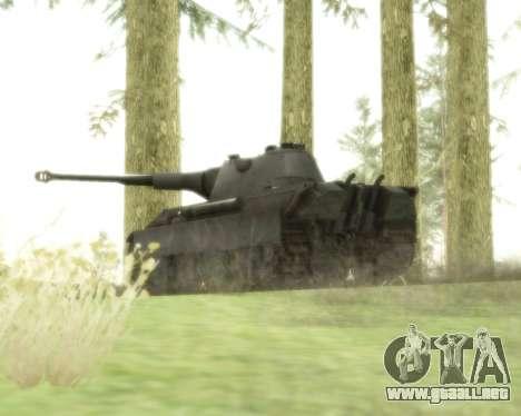 Pzkpfw V Panther II para GTA San Andreas vista hacia atrás