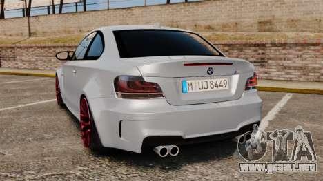 BMW 1 M 2011 para GTA 4 Vista posterior izquierda