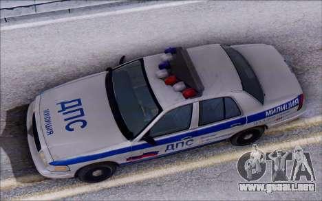 Ford Crown Victoria STR para GTA San Andreas vista hacia atrás