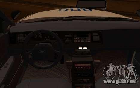 Ford Crown Victoria STR para la visión correcta GTA San Andreas