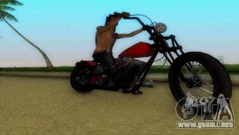 Harley Davidson Shovelhead para GTA Vice City vista interior