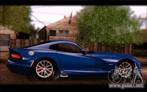 SRT Viper Autovista para visión interna GTA San Andreas