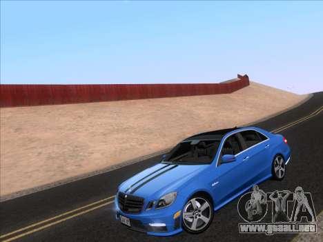 Mercedes-Benz E63 AMG 2011 Special Edition para GTA San Andreas vista posterior izquierda